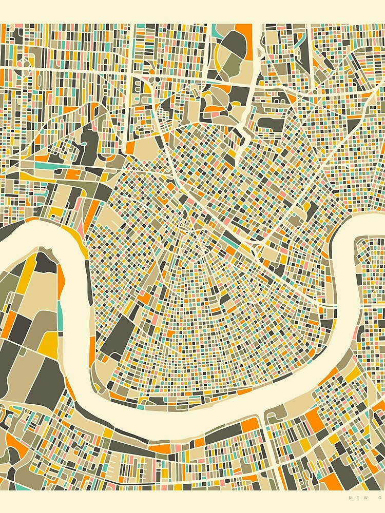 NEW ORLEANS MAP by JazzberryBlue
