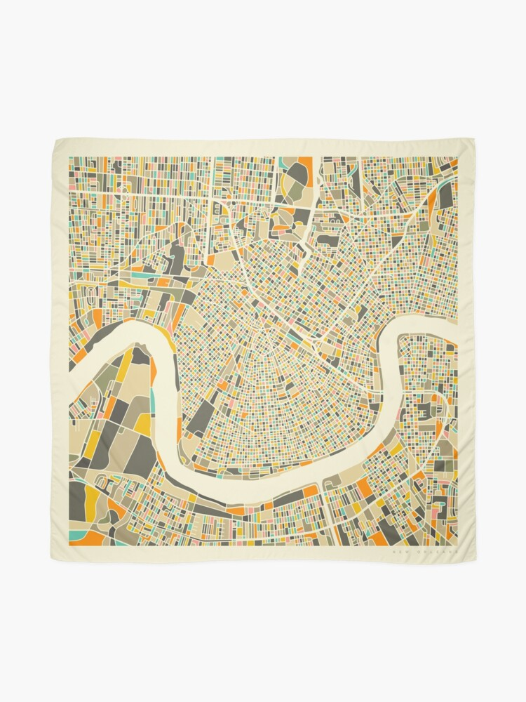 Alternate view of NEW ORLEANS MAP Scarf