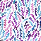 bright watercolor branches by DariaNK