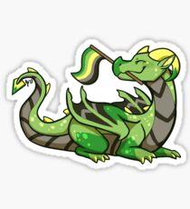 Aromantic Pride Flag Dragon Sticker