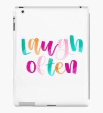 Laugh Often iPad Case/Skin
