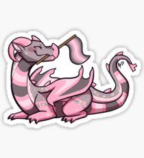 Demigirl Pride Flag Dragon (1st Edition) Sticker