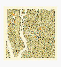Lámina fotográfica MAPA DE NUEVA YORK