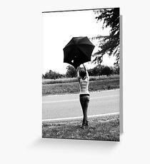 Parapluie Greeting Card