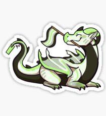 Agender Pride Flag Dragon Sticker