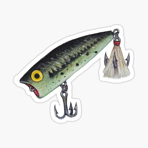 Green Fishing Lure Sticker