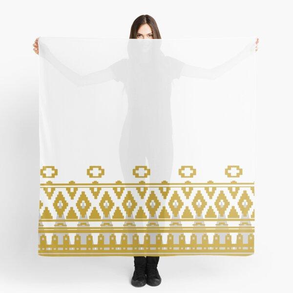 Journey: White Cloak Pattern Scarf