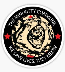 Commscat Fury - Patch Dark Sticker