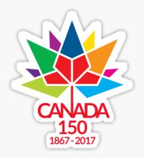 Canada Day Celebrating 150 Years Sticker