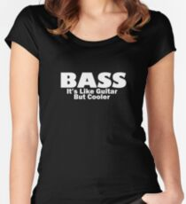 Bass for ever (White) Women's Fitted Scoop T-Shirt