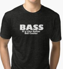 Bass for ever (White) Tri-blend T-Shirt