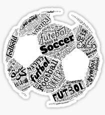 Fußball, Fußball, Futbol, die Internationale Obsession Polyglot Sticker
