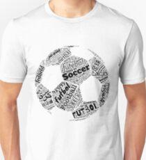 Fußball, Fußball, Futbol, die Internationale Obsession Polyglot Slim Fit T-Shirt