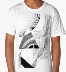 Abstract Geometric Ink Long T-Shirt