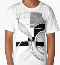 Abstract Geometric Ink II Long T-Shirt