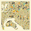 SAN DIEGO MAP by JazzberryBlue