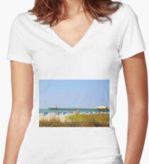 Myrtle Beach South Carolina Women's Fitted V-Neck T-Shirt