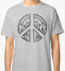 Peace Sign and Mountain Design Classic T-Shirt