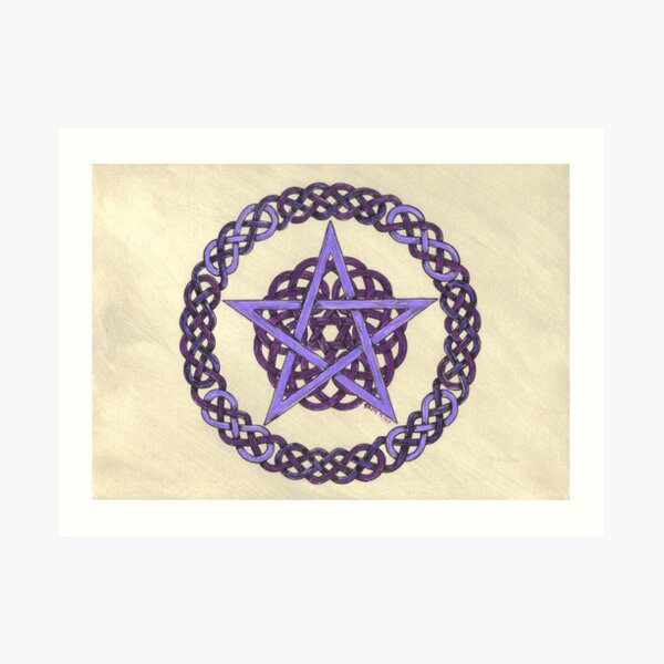 Purple Pentagram  Art Print