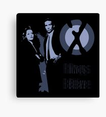 X-Files - Always Believe Canvas Print