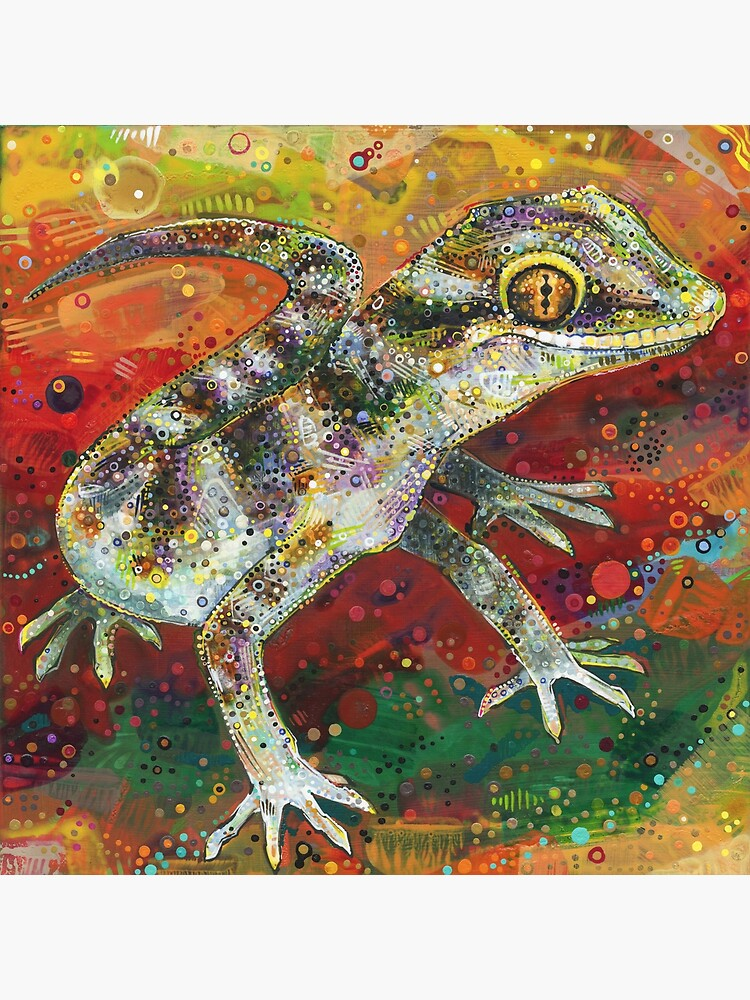 Bynoe's Gecko Painting - 2012 by gwennpaints