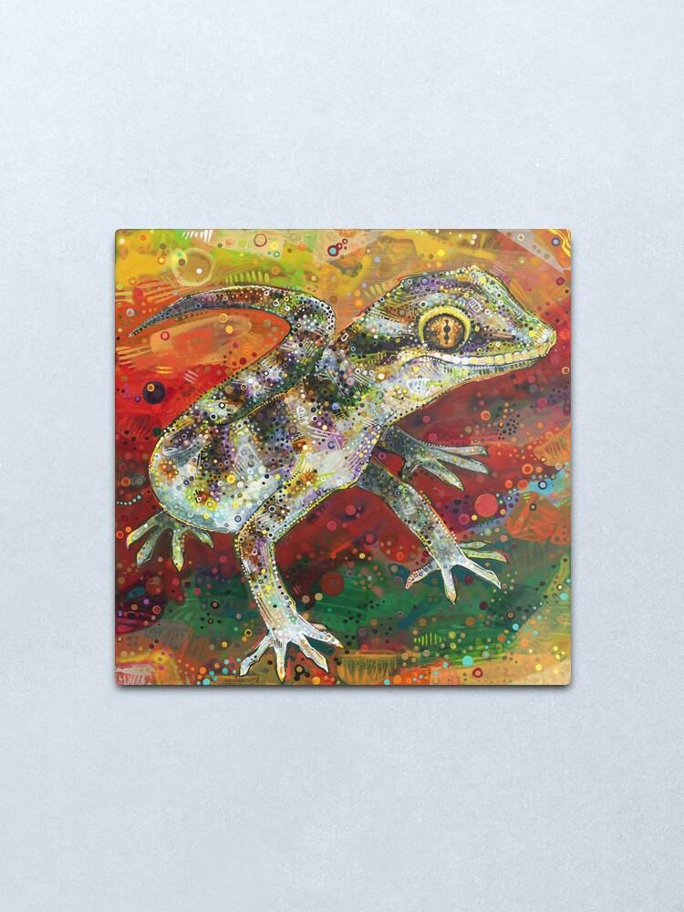 Alternate view of Bynoe's Gecko Painting - 2012 Metal Print