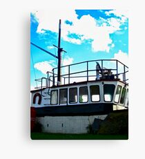 Old boat at Corcreggan's Mill, Donegal, Ireland Canvas Print