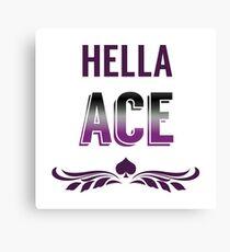 Hella Ace Pride Canvas Print