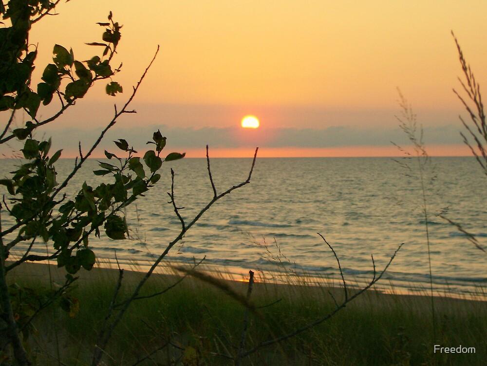 Lake Huron Sunset by Freedom