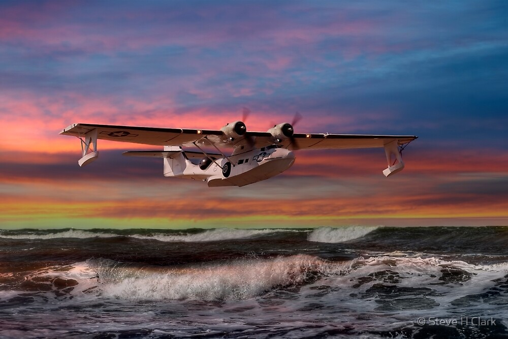 Consolidated PBY-5A at Sunset (US Navy Version) by © Steve H Clark