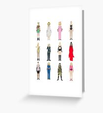 Outfits of Madge Fashion Greeting Card