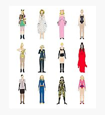 Outfits of Madge Fashion Photographic Print