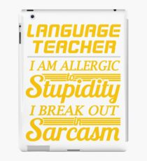 LANGUAGE TEACHER iPad Case/Skin