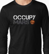 Occupy Mars White Long Sleeve T-Shirt