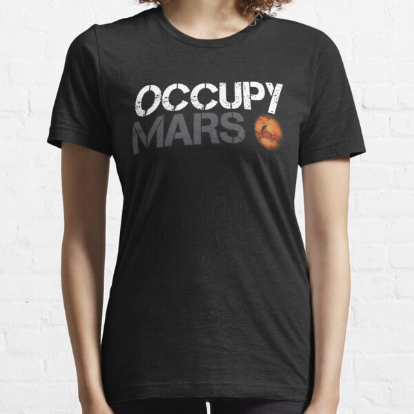 Occupy Mars White Essential T-Shirt