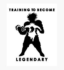 Training To Become Legendary - Gym Motivation Broly Photographic Print