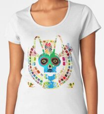 Mexican dog and Mexican skull Women's Premium T-Shirt