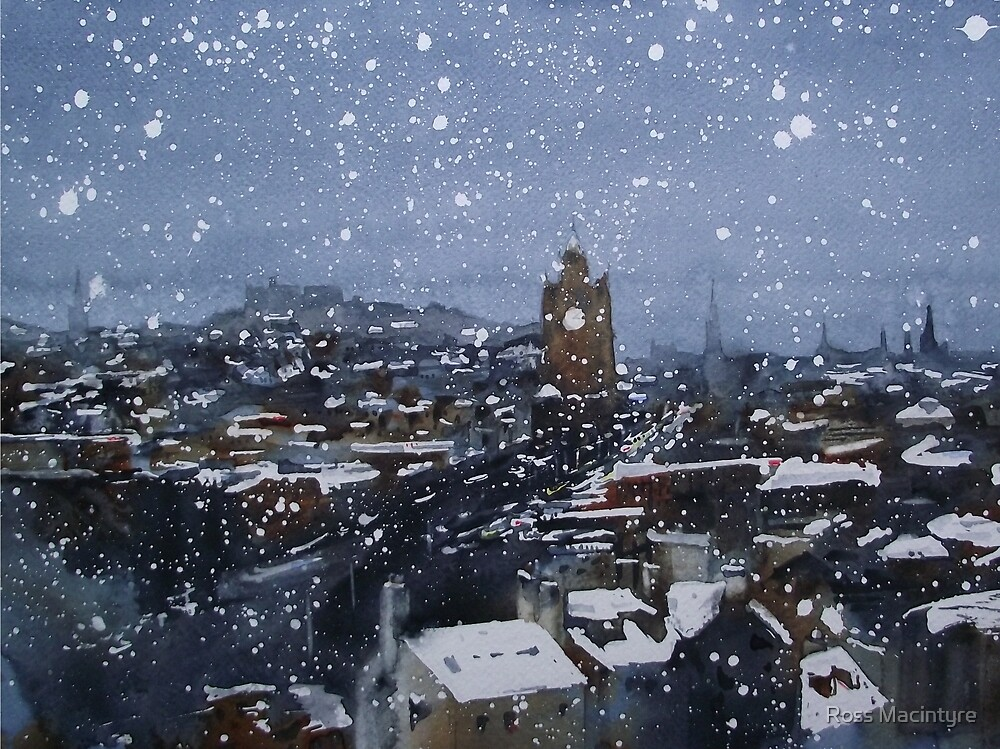 Snow On Edinburgh 9 by Ross Macintyre