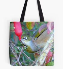 Love Is... Sharing A Teat!! - Silver-Eyes - NZ Tote Bag