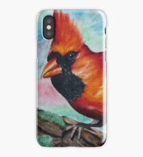 Photorealistic Cardinal Drawing  iPhone Case/Skin