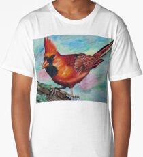 Photorealistic Cardinal Drawing  Long T-Shirt