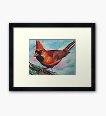 Photorealistic Cardinal Drawing  Framed Print