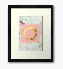 Abstract Pink and Gold Framed Print
