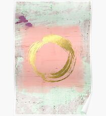 Abstract Pink and Gold Poster