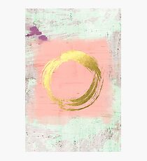 Abstract Pink and Gold Photographic Print