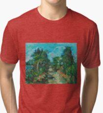 """Cedar Key Florida"" Tri-blend T-Shirt"