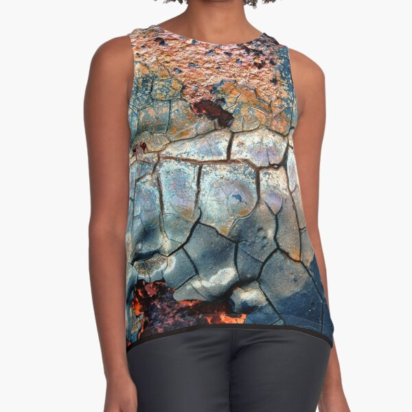 Blue Blazes Sleeveless Top