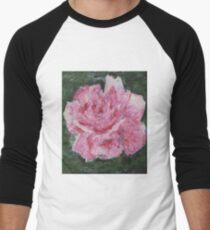 """""""Pink Rose"""" Men's Baseball ¾ T-Shirt"""