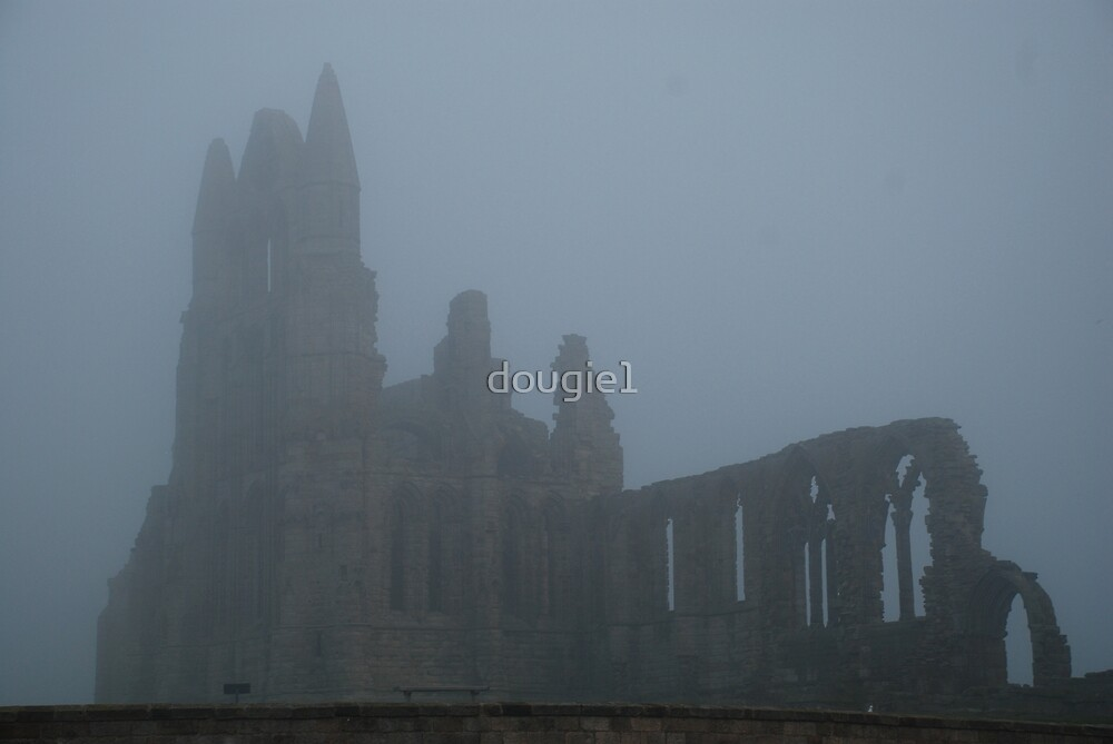 Whitby Abbey in the mist by dougie1