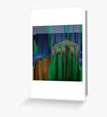 """Rationalized faith structures - study n.3 (or """"the green church"""") Greeting Card"""